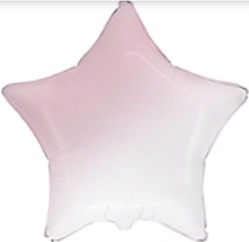 "18"" Gradient Baby Pink Star Unpackaged"